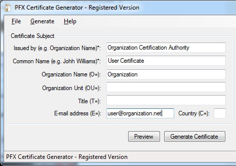 PFX Digital Certificate Generator – Digital Signature Software